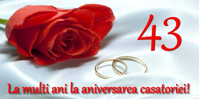 Felicitari Aniversare Casatorie 43 ani