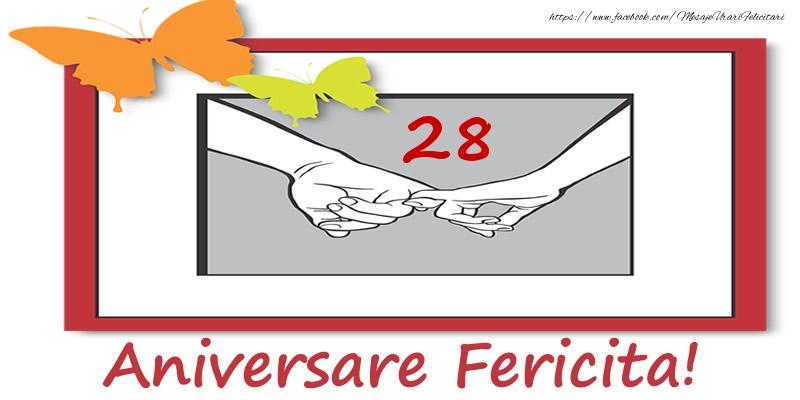 Felicitari aniversare De Casatorie - 28 ani de Casatorie Aniversare Fericita!