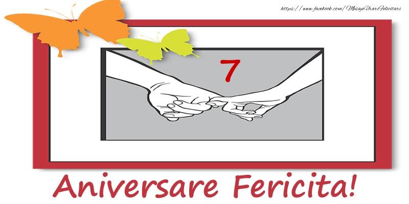 Felicitari aniversare De Casatorie - 7 ani de Casatorie Aniversare Fericita!