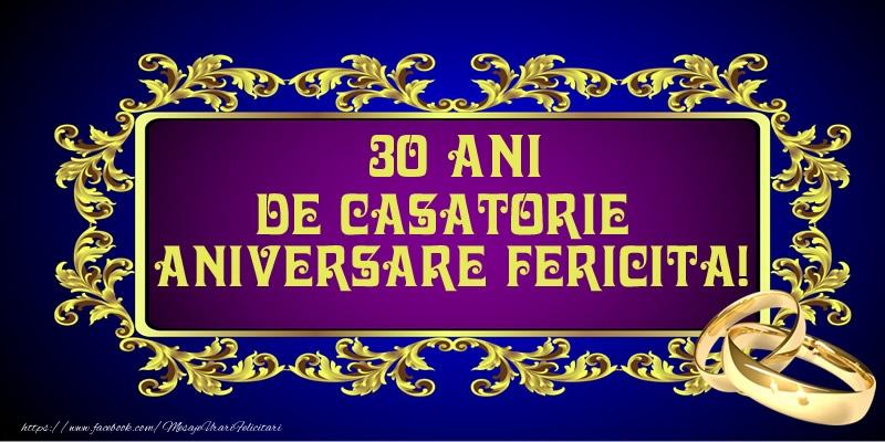 Felicitari aniversare De Casatorie - 30 ani de Casatorie Aniversare Fericita!