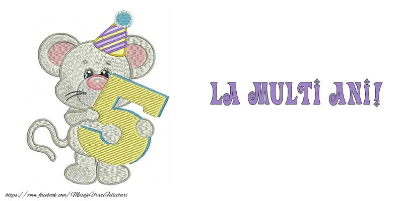 Felicitari aniversare Pentru Copii - Felicitare 5 ani! La multi ani!