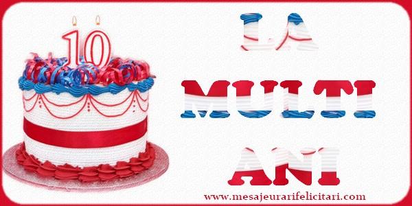 Felicitari aniversare Pentru Copii - 10 ani. La multi ani