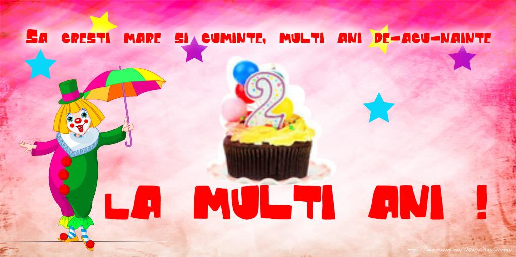 Felicitari aniversare Pentru Copii - La multi ani 2 anisori