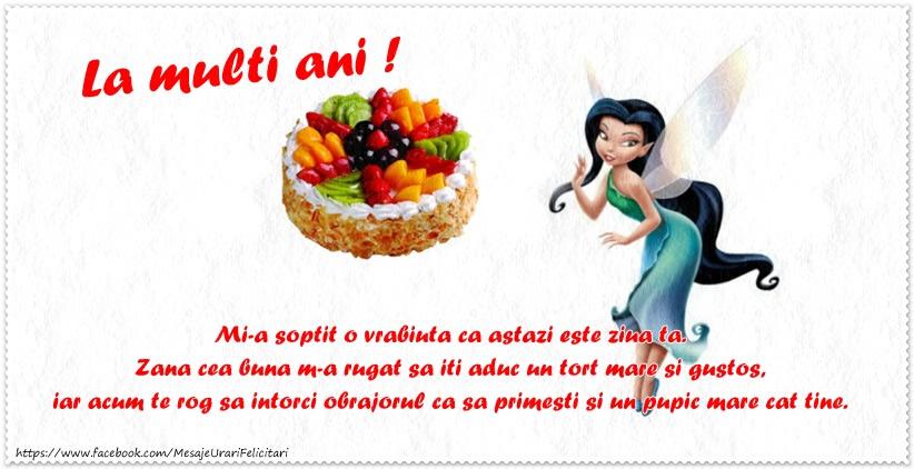 Felicitari aniversare Pentru Copii - Felicitare pentru fetite: La multi ani!