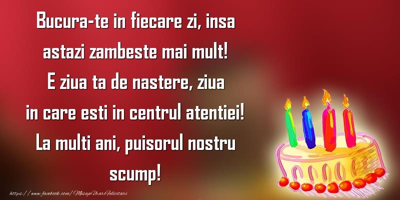 Felicitari aniversare Pentru Copii - La multi ani, puisorul nostru scump!