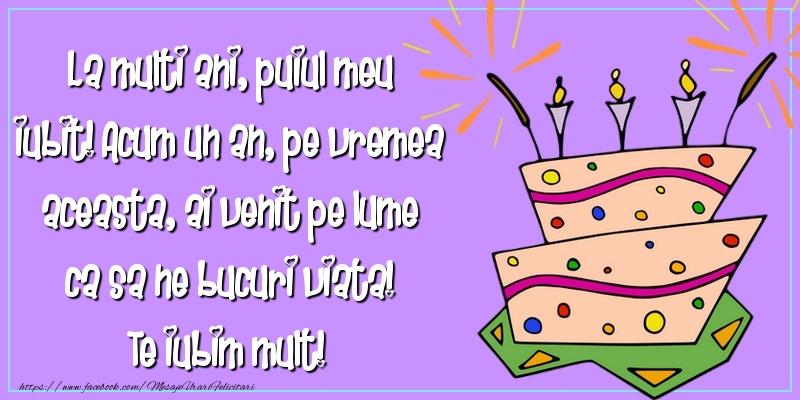 Felicitari aniversare Pentru Copii - La multi ani, puiul meu iubit!