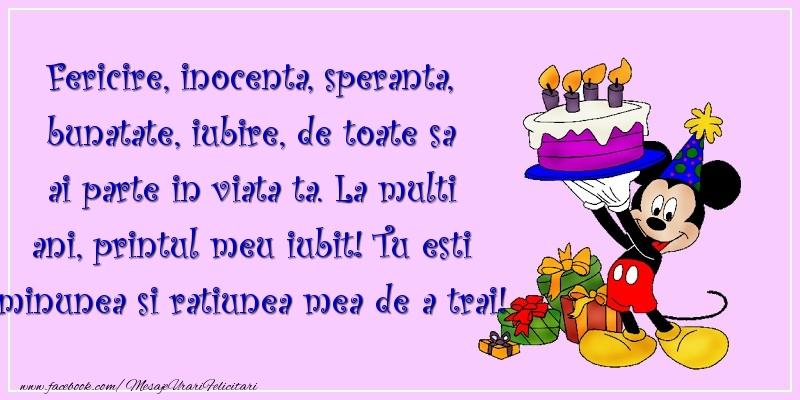 Felicitari aniversare Pentru Copii - La multi ani, printul meu iubit!