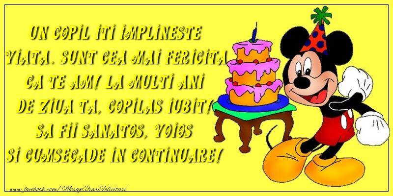 Felicitari aniversare Pentru Copii - La multi ani de ziua ta, copilas iubit!