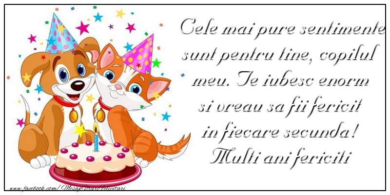 Felicitari aniversare Pentru Copii - Multi ani fericiti iti doresc din suflet si multe, multe zambete si cadouri!