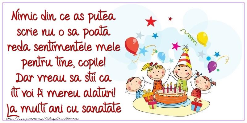 Felicitari aniversare Pentru Copii - La multi ani cu sanatate si multa fericire! Te iubesc enorm!