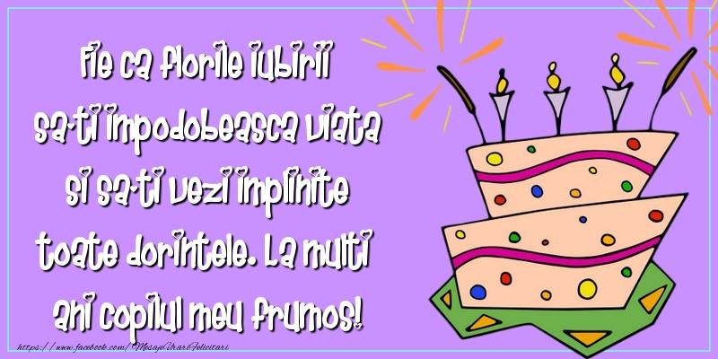 Felicitari aniversare Pentru Copii - La multi ani copilul meu frumos!