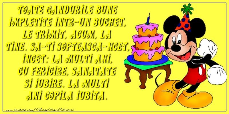 Felicitari aniversare Pentru Copii - La multi ani copila iubita