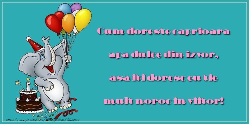 Felicitari aniversare Pentru Copii - Multe zile si senine multe salutari de bine iti doreste cineva care nu te va uita.