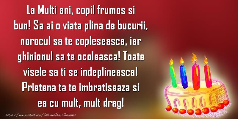 Felicitari aniversare Pentru Copii - La Multi ani, copil frumos si bun!
