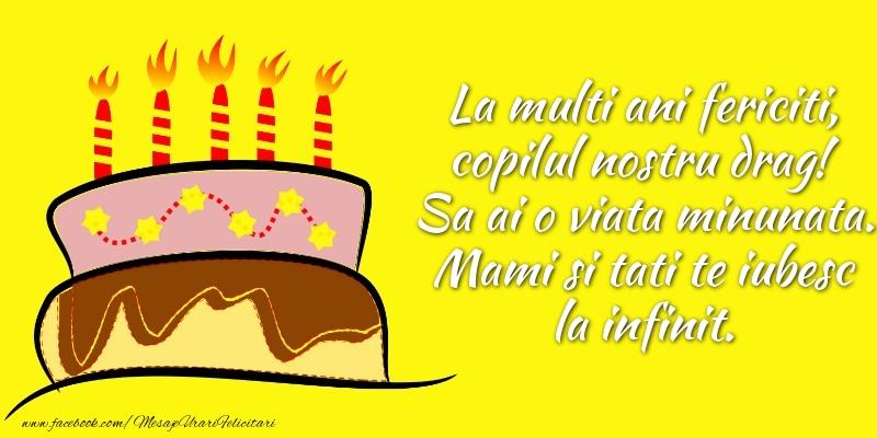 Felicitari aniversare Pentru Copii - La multi ani fericiti