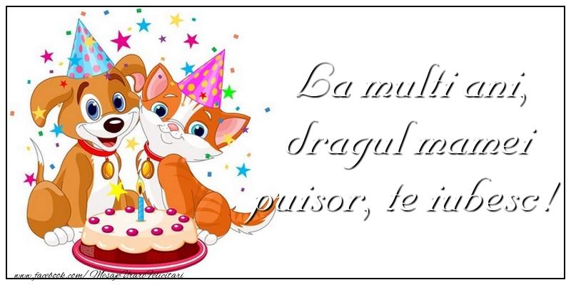 Felicitari aniversare Pentru Copii - La multi ani, dragul mamei puisor
