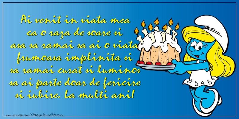 Felicitari aniversare Pentru Copii - Ai venit in viata mea ca o raza de soare