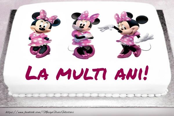 Felicitari aniversare Pentru Copii - La multi ani! - Tort cu Minnie