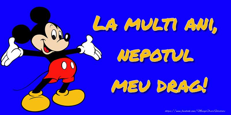 Felicitari aniversare Pentru Copii - La multi ani, nepotul meu drag! - Mickey Mouse