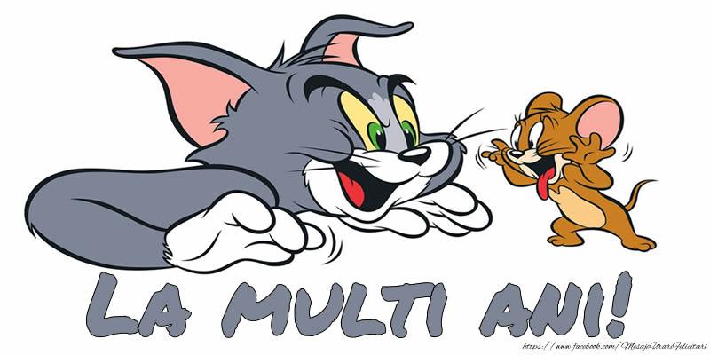 Felicitari aniversare Pentru Copii - Felicitare cu Tom si Jerry: La multi ani!