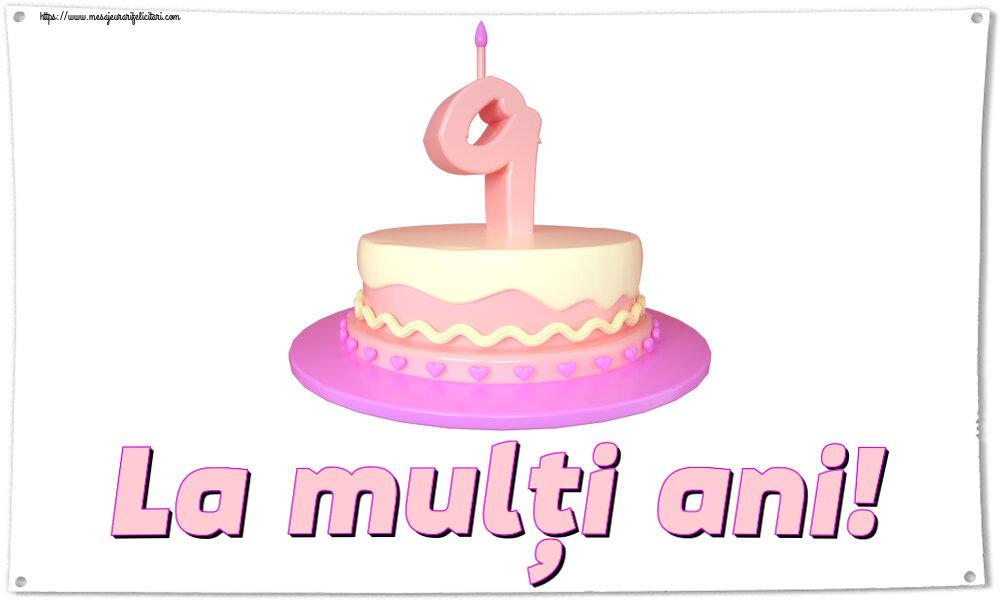Felicitari aniversare Pentru Copii - La mulți ani! ~ Tort 9 ani