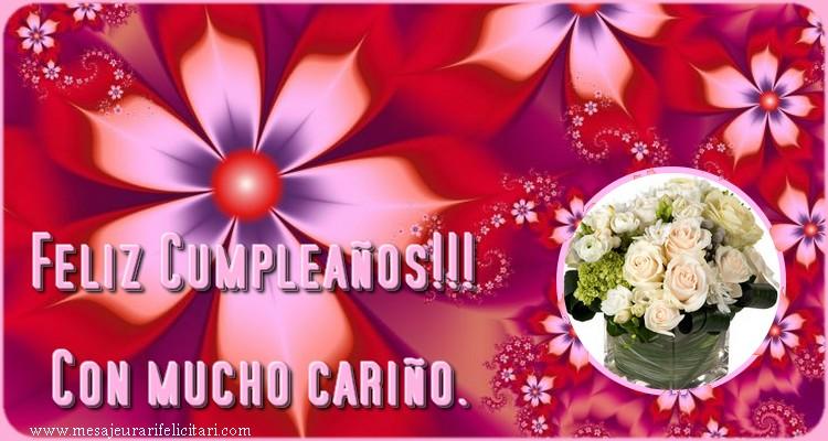 Felicitari Aniversare in limba Spaniola - Feliz Cumpleaños!!! Con mucho cariño.