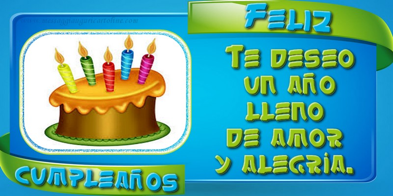 Felicitari Aniversare in limba Spaniola - Feliz Cumpleaños