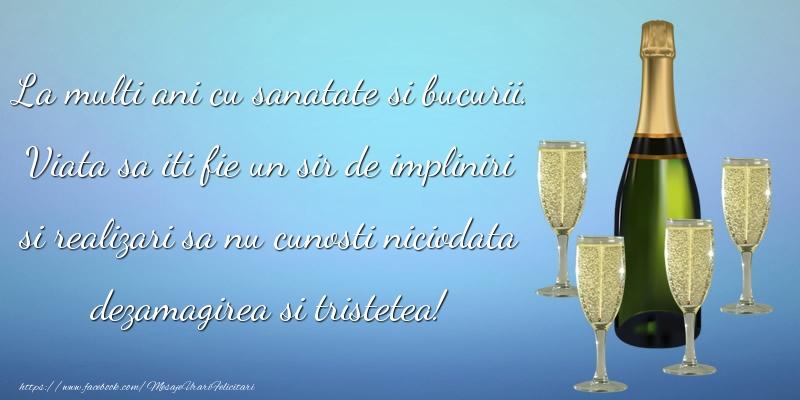 Felicitari aniversare De La Multi Ani - La multi ani cu sanatate si bucurii.