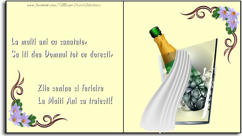 Felicitari aniversare De La Multi Ani - La Multi Ani sa traiesti!