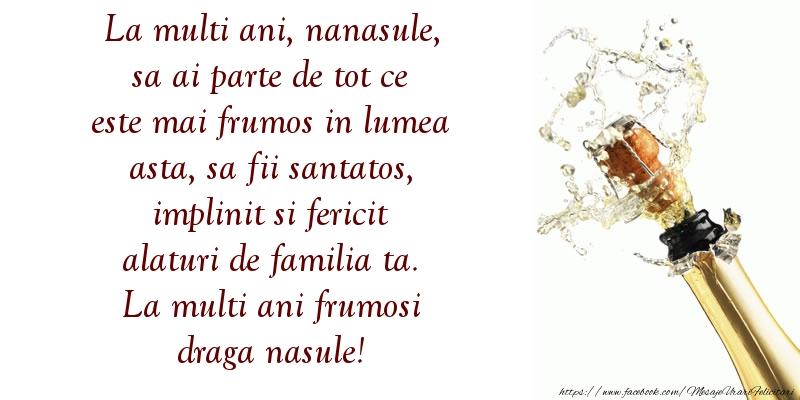 Felicitari aniversare De La Multi Ani - Nanasule sa fii santatos, implinit si fericit alaturi de familia ta