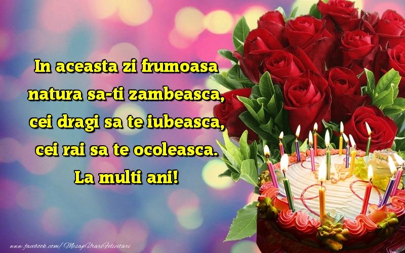 Felicitari aniversare De La Multi Ani - La multi ani!
