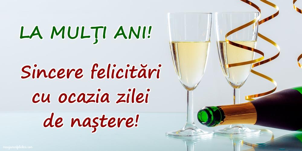 Felicitari aniversare De La Multi Ani - La mulți ani! Sincere felicitări cu ocazia zilei de naștere!
