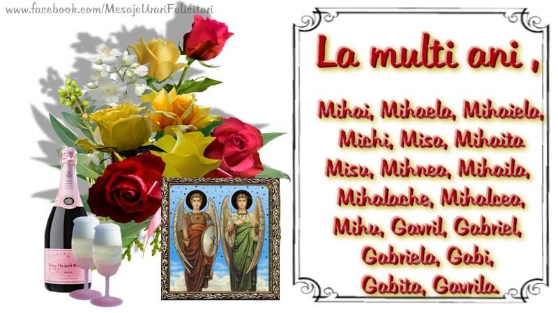 Felicitari aniversare De Sfintii Mihail si Gavril - La multi ani, Mihai, Mihaela