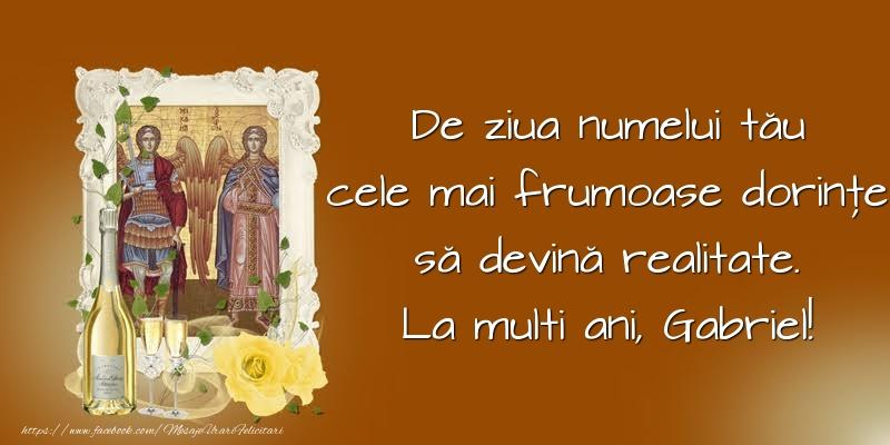 Felicitari aniversare De Sfintii Mihail si Gavril - De ziua numelui tău
