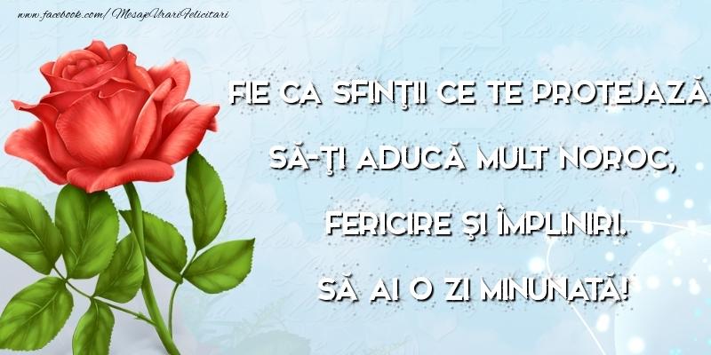 Felicitari aniversare De Sfintii Mihail si Gavril - Să ai o zi minunată!
