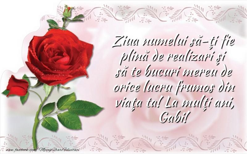Felicitari aniversare De Sfintii Mihail si Gavril - La mulţi ani, Gabi!