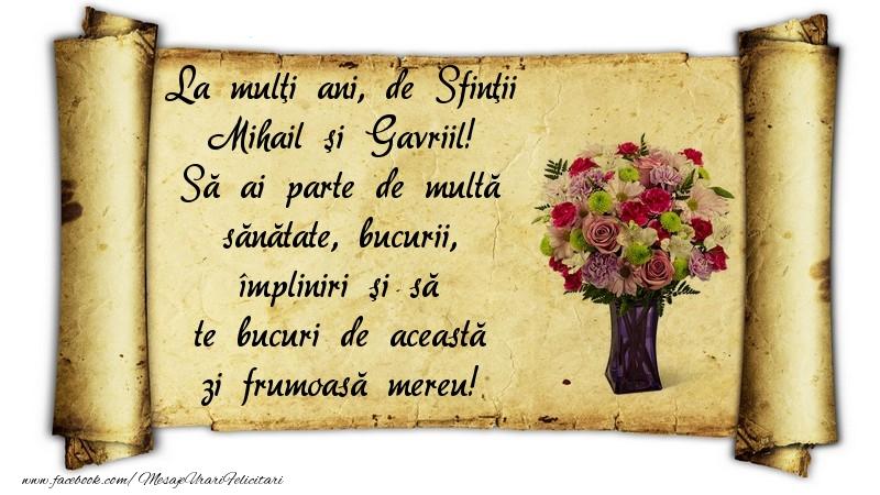 Felicitari aniversare De Sfintii Mihail si Gavril - La mulţi ani, de Sfinţii Mihail şi Gavriil