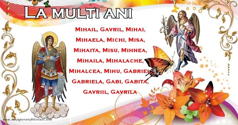Felicitari aniversare De Sfintii Mihail si Gavril - La multi ani!
