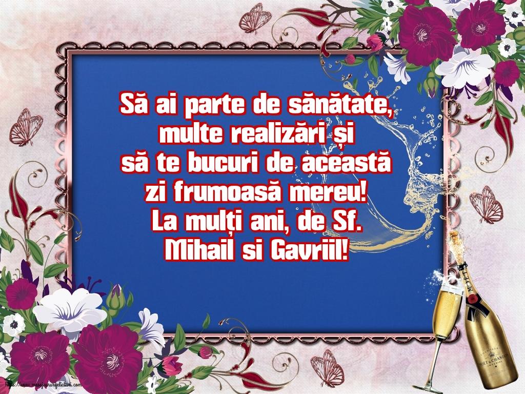 Felicitari aniversare De Sfintii Mihail si Gavril - La mulți ani, de Sf. Mihail si Gavriil!