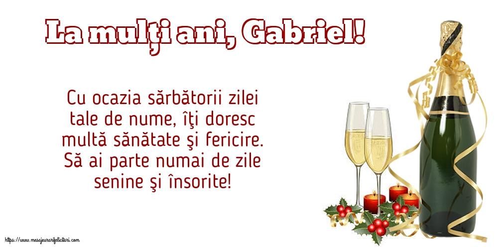 Felicitari aniversare De Sfintii Mihail si Gavril - La mulți ani, Gabriel!