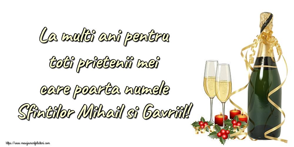 Felicitari aniversare De Sfintii Mihail si Gavril - La multi ani pentru toti prietenii mei care poarta numele Sfintilor Mihail si Gavriil!