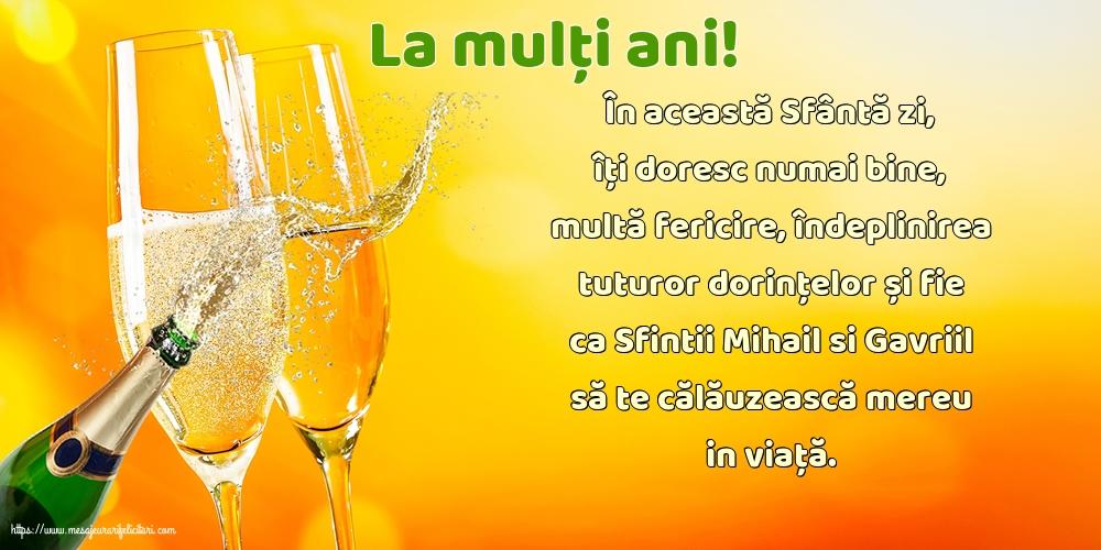 Felicitari aniversare De Sfintii Mihail si Gavril - La mulți ani!