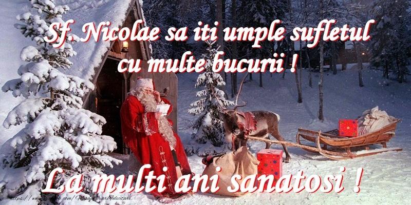 Felicitari aniversare De Sfantul Nicolae - De Mos Nicolae iti daruiesc inima mea!