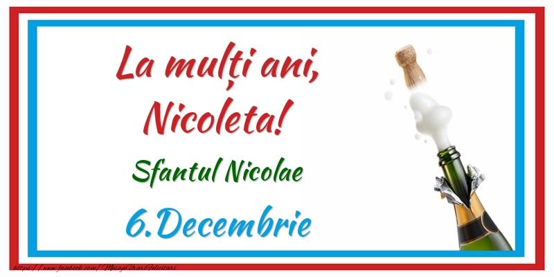 Felicitari aniversare De Sfantul Nicolae - La multi ani, Nicoleta! 6.Decembrie Sfantul Nicolae
