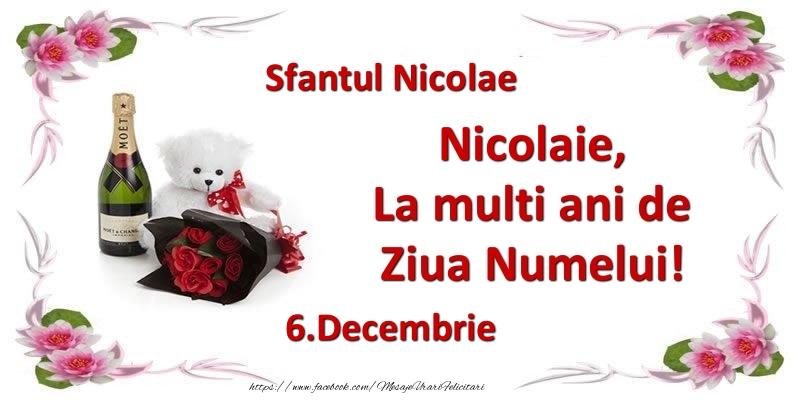 Felicitari aniversare De Sfantul Nicolae - Nicolaie, la multi ani de ziua numelui! 6.Decembrie Sfantul Nicolae