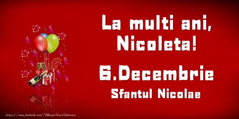 Felicitari aniversare De Sfantul Nicolae - La multi ani, Nicoleta! Sfantul Nicolae - 6.Decembrie