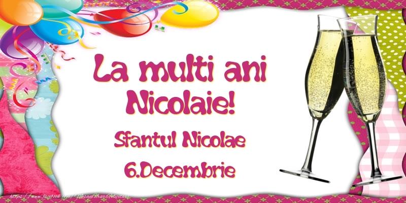 Felicitari aniversare De Sfantul Nicolae - La multi ani, Nicolaie! Sfantul Nicolae - 6.Decembrie
