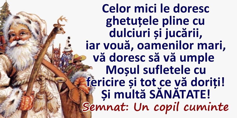Felicitari aniversare De Sfantul Nicolae - Dorința mea de Mos Nicolae