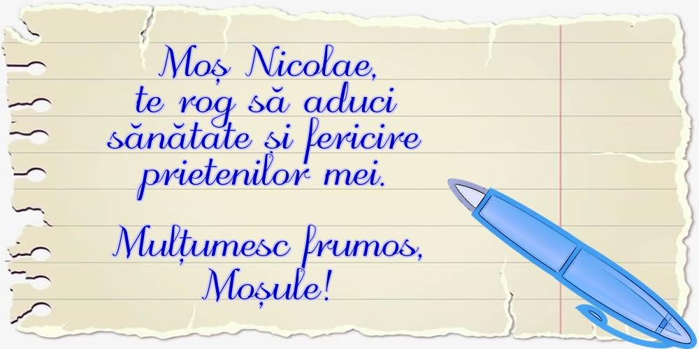Felicitari aniversare De Sfantul Nicolae - Mulțumesc frumos, Moșule!