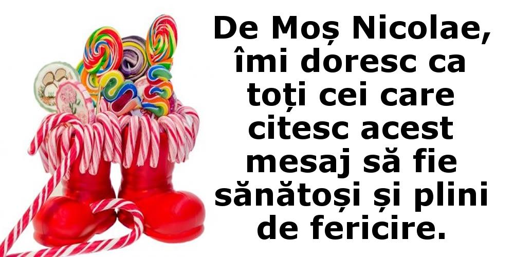 Felicitari aniversare De Sfantul Nicolae - Tu ce îți dorești de Moș Nicolae?